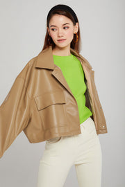 storets.com Willow Pleather Cropped Jacket