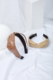 Twisted Pleather Headband