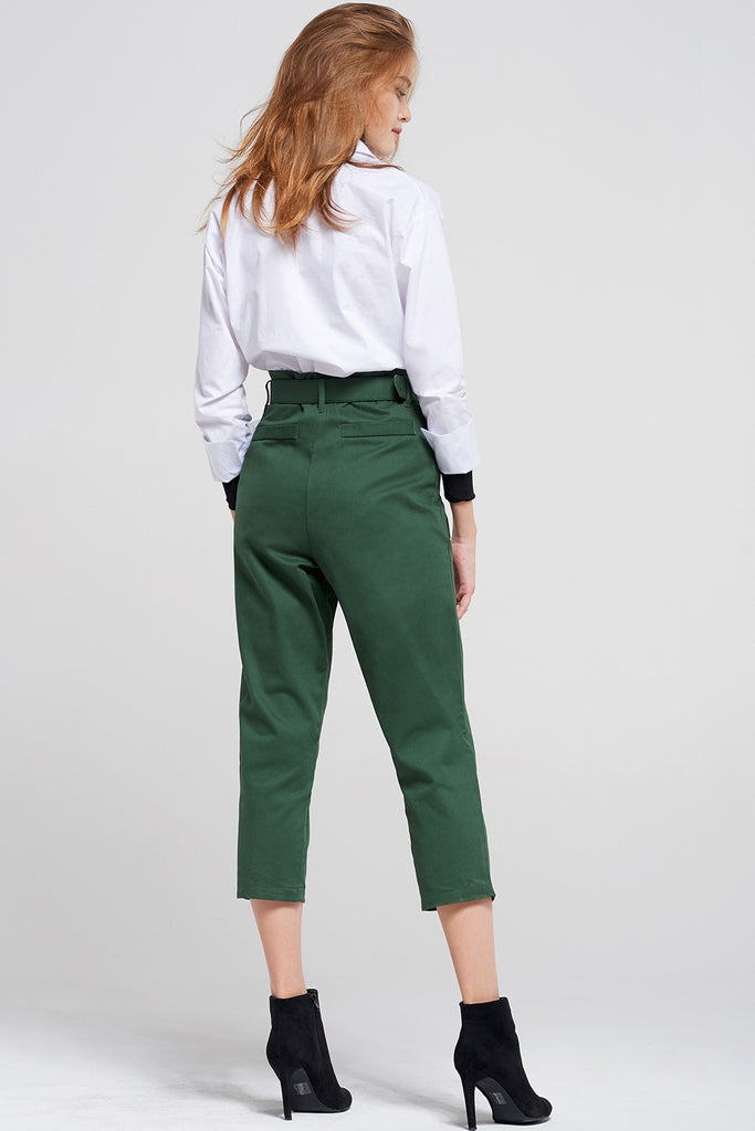 Ciara Cropped Pants With Belt