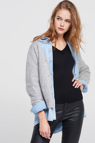 Ginny Shiny 2 Way Cardigan