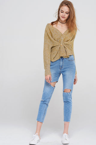 Jully Uneven Cut Jeans