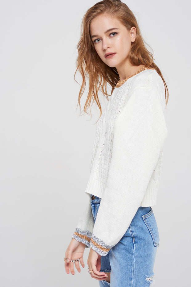 storets.com Selma Cable Knit Pullover
