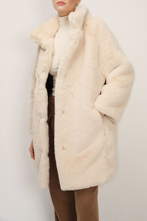 storets.com Brielle Faux Mink Long Coat