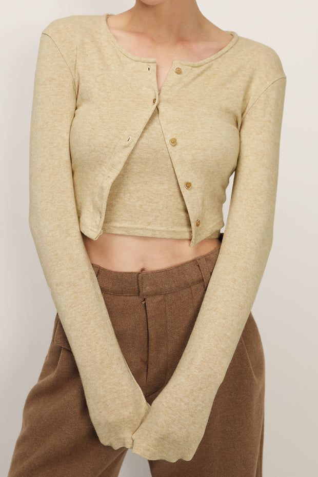 Leila Cropped Cardigan 2-Piece Set