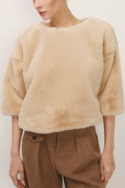 storets.com Angela Faux Mink Top