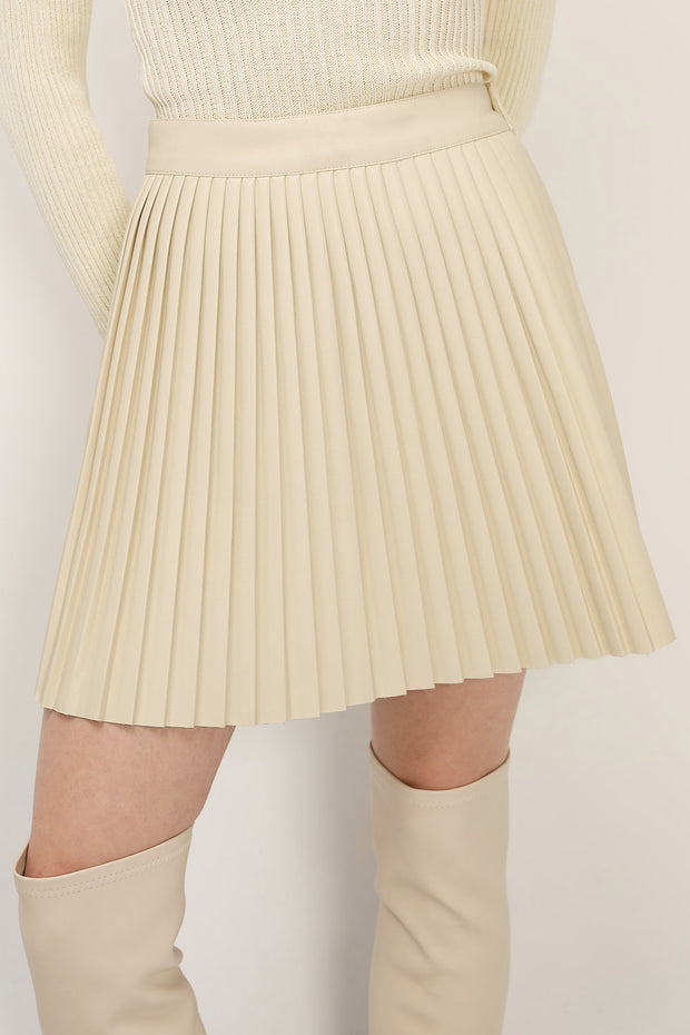storets.com Annie Pleated Pleather Skirt