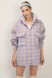 Hannah Houndstooth Shirt Jacket