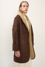 storets.com Harper Shawl Collar Shearling Coat