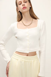 storets.com Lena Square Neck Buttoned Top