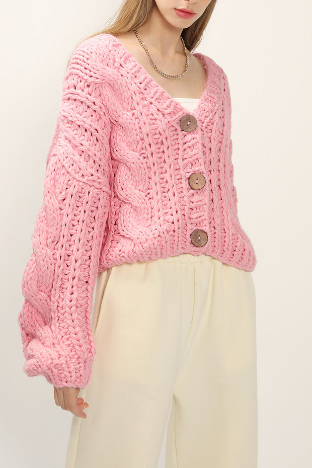 storets.com Angela Oversized Cable Knit Cardigan