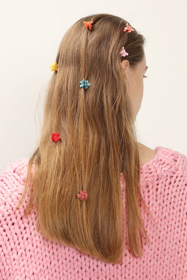Petite Flower Hair Clips