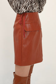 storets.com Hazel Pleather Wrap Skirt