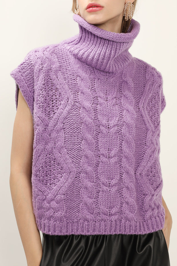 Reagan Cable Knit Sleeveless Top