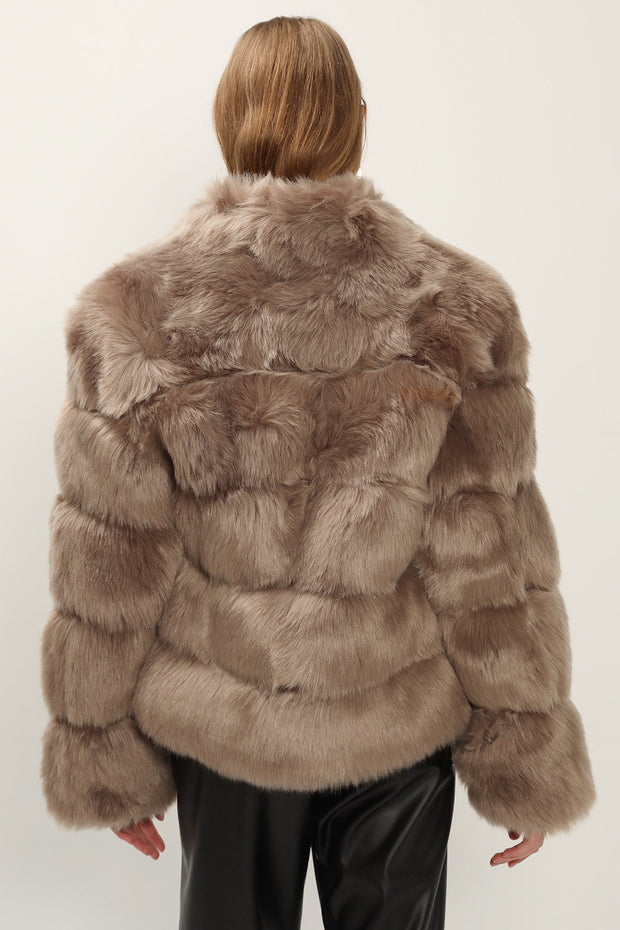 Blair Ribbed Faux Fur Jacket