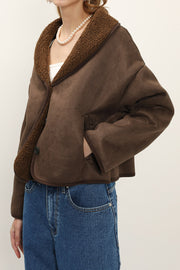 Blair Cropped Shearling Jacket