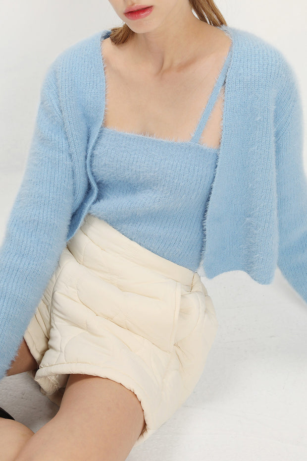 Joy Fuzzy Cardigan 2-Piece Set