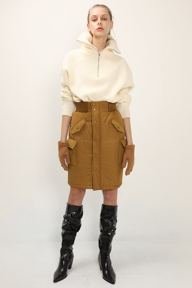storets.com Sienna Padded Buttoned Skirt