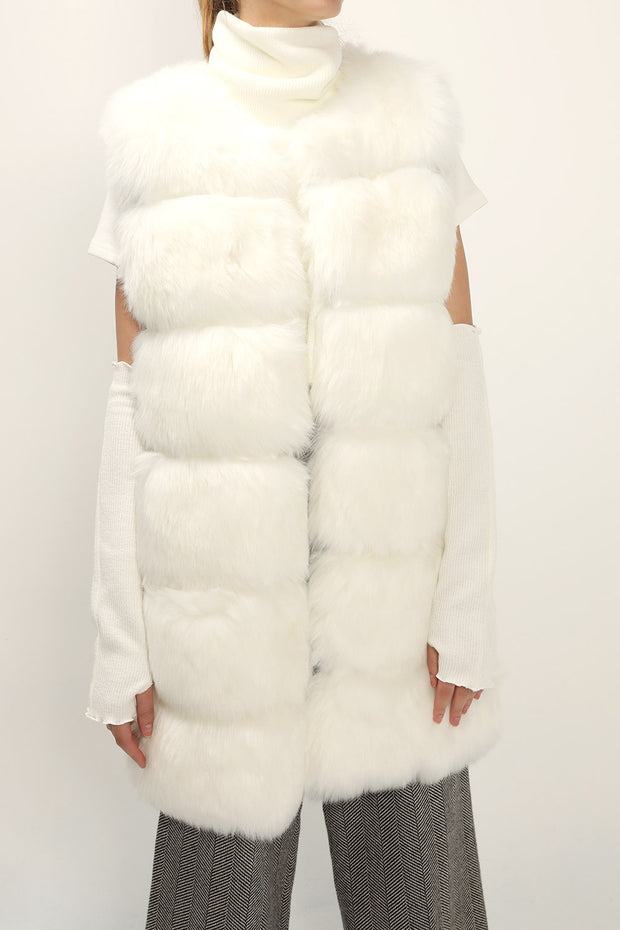 Amelia Fluffy Faux Fur Vest