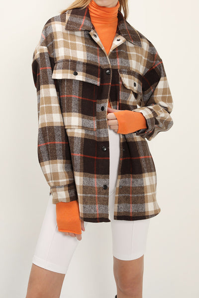 Allyson Oversized Plaid Shirt