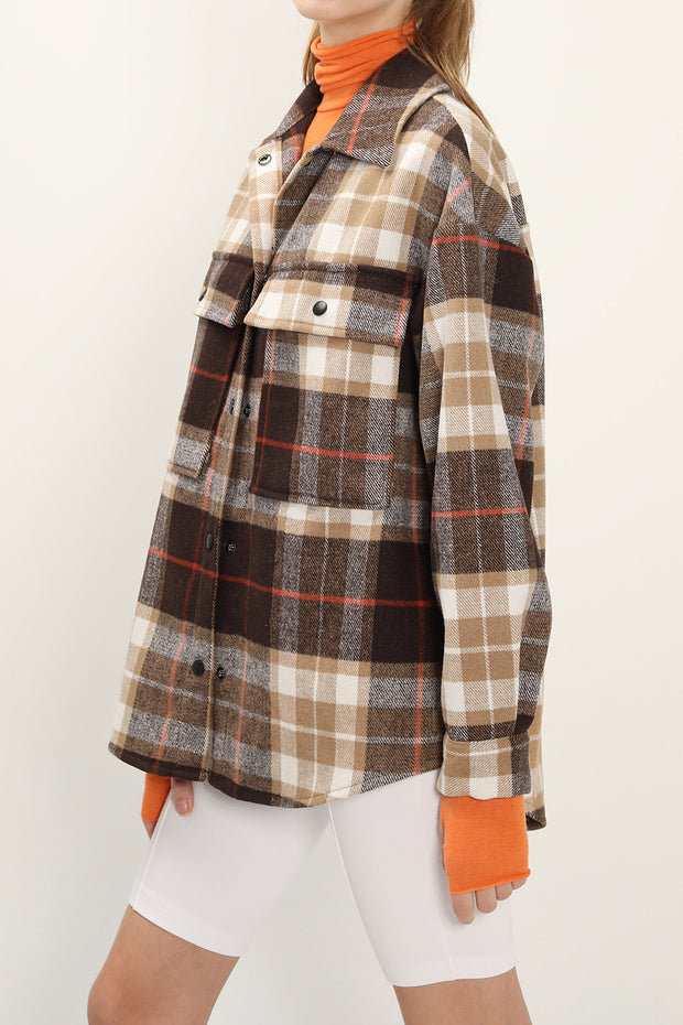 storets.com Allyson Oversized Plaid Shirt