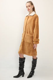 Brynn Contrast Collar Teddy Coat