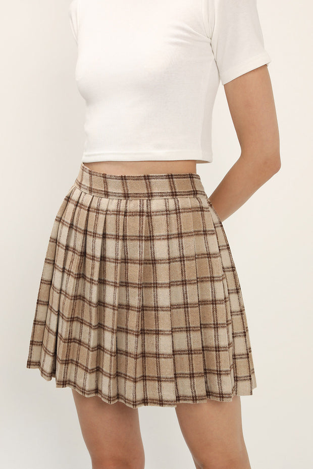 storets.com Ava Fuzzy Plaid Tennis Skirt