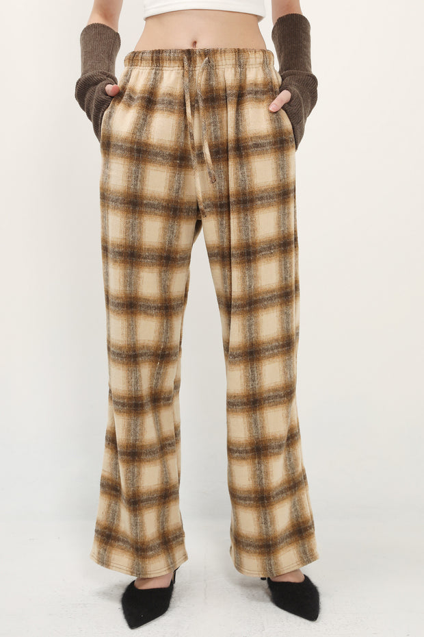 storets.com Blake Checked Wide Leg Pants