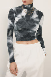 storets.com Kassidy Tie Dye High Neck Top
