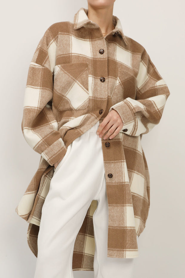 Ada Oversized Plaid Shirt Jacket