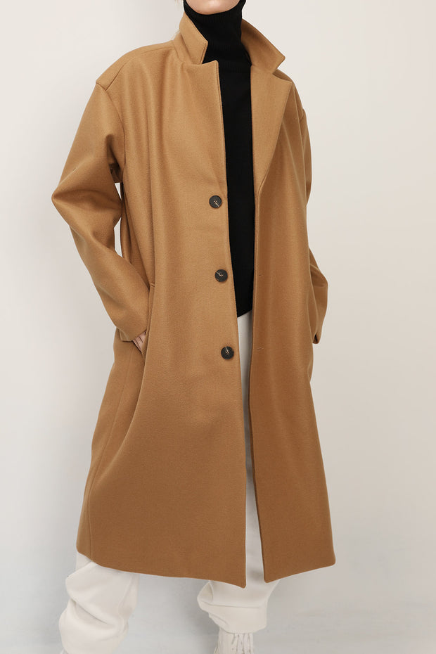 Elise Single Breasted Long Coat
