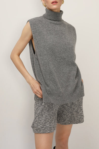 storets.com Norah High Neck Sleeveless Knit Top