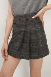 storets.com Allison Half Pleated Mini Skort