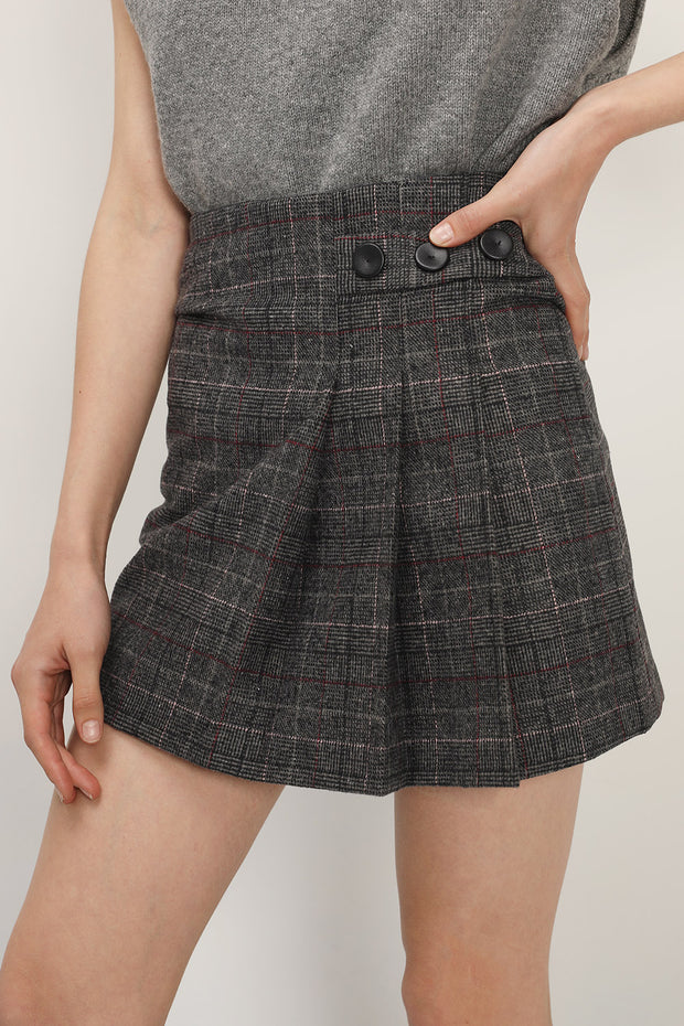 Allison Half Pleated Mini Skort