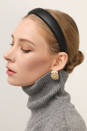 Faux Leather Padded Headband