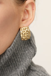 storets.com Statement Golden Stud Earrings