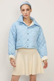 Hazel Quilted Cropped Jacket