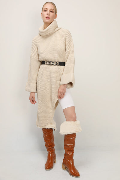 storets.com Gracie Asymmetric Sweater Dress
