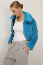 Leah Fluffy Cropped Jacket