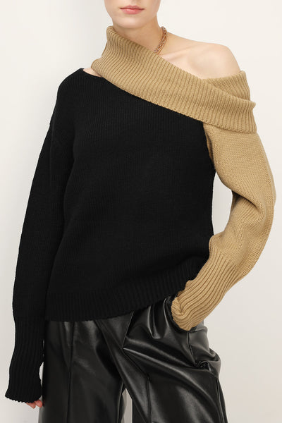 Leslie Cut Out Shoulder Sweater