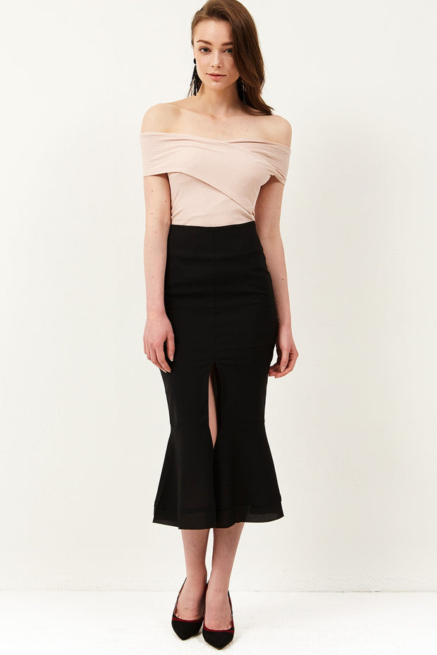 Tobi Front Slit Mermaid Skirt