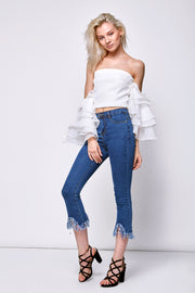 Michelle Frayed Jeans