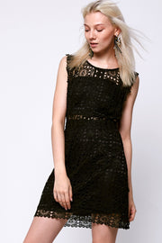 Yula Lace Punching Dress