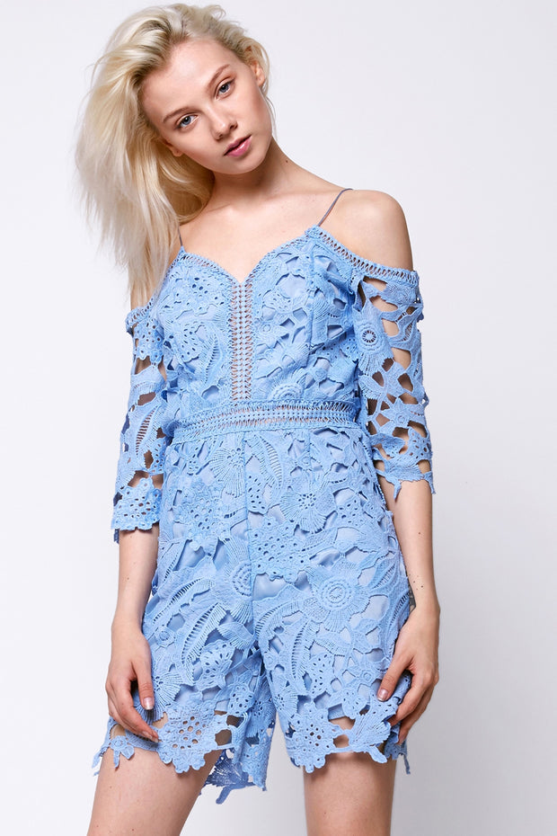 Xiera Lace Cold Shoulder Dress
