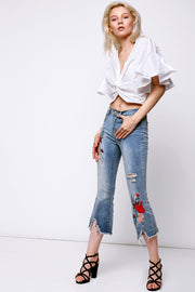 Angelica Embroidery Jeans