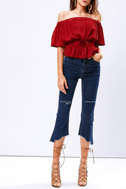 Emmy unbalanced Cut out jeans