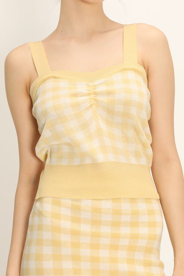 storets.com Dana Gingham Knitted Top