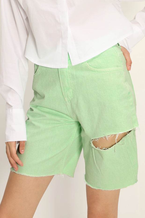 storets.com Karlee Slash Color Deinim Shorts