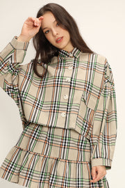 storets.com Lisa Oversized Plaid Shirt