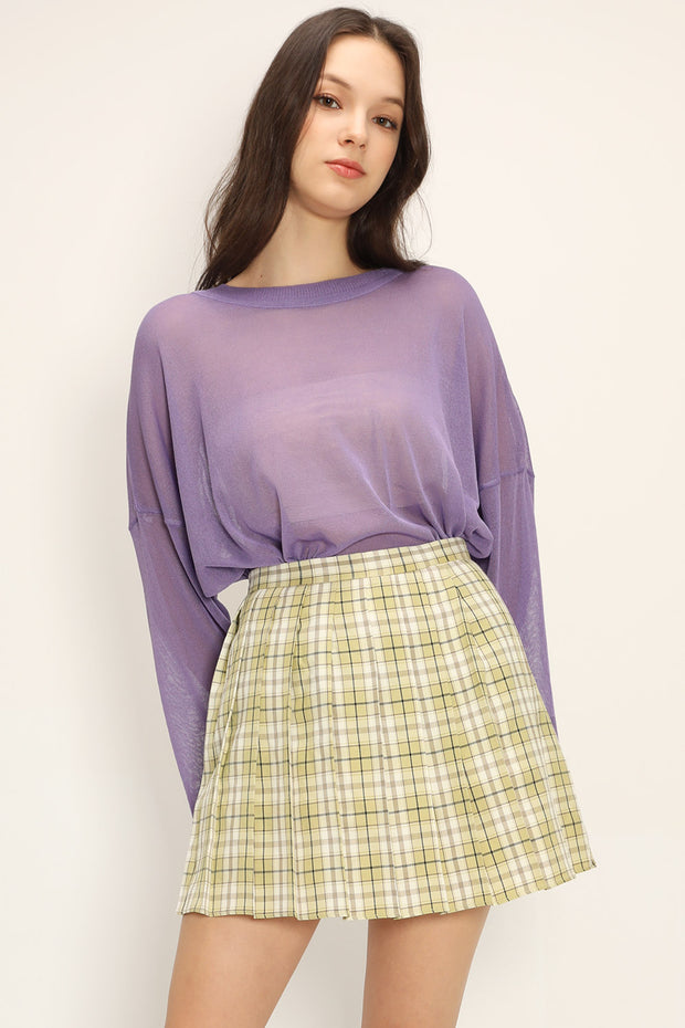storets.com Paloma Plaid Pleated Skirt