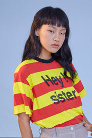 [ROCKETXLUNCH] R Hey Sister Spangle T-Shirt